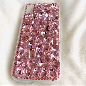 Accessories - For IPhone X/Xs Luxury Bling Pink Crystal Case